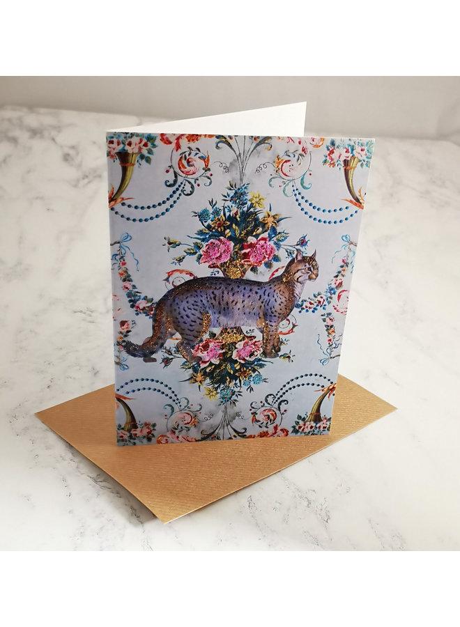 Wildcat Vintage Glitter Card  95