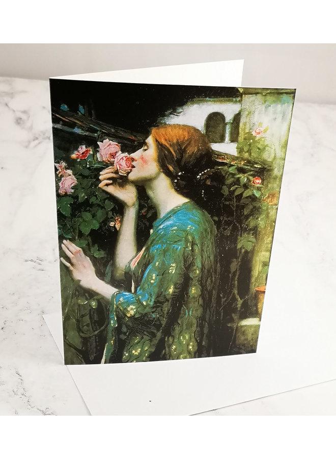 Die Seele der Rose von Waterhouse 140x 180mm Karte