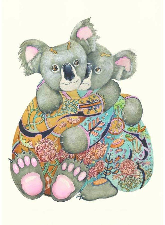 Cuddling Koalas Card