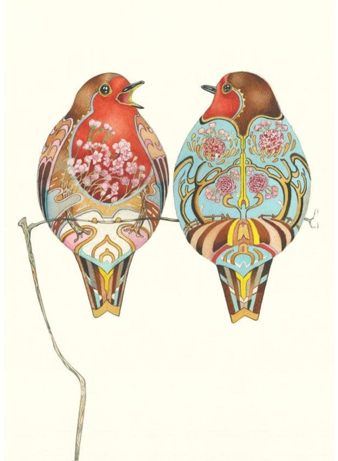 Two Robins Card
