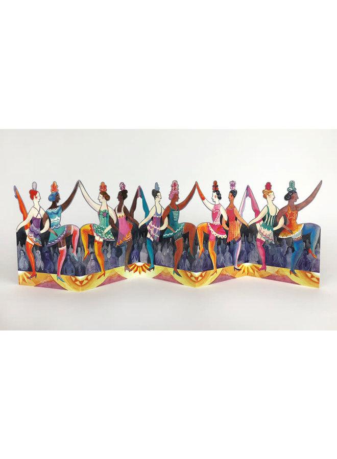 Cabaret Dancers 3D card by Sarah Young