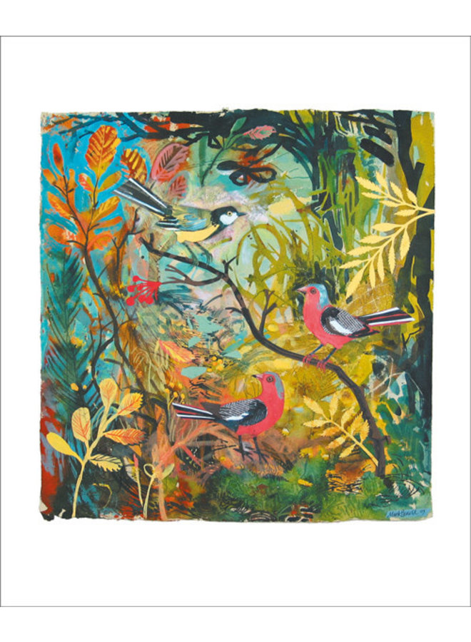 Great Tit and Chaffinches by Mark Hearld
