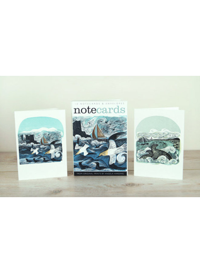 Gannets at Rathin Island and Seal Song  10 Notecards by Angela Harding
