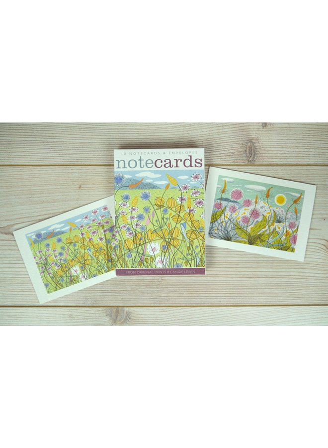 Machair , Plantian and Thrift  10 Notecards by Angie Lewin