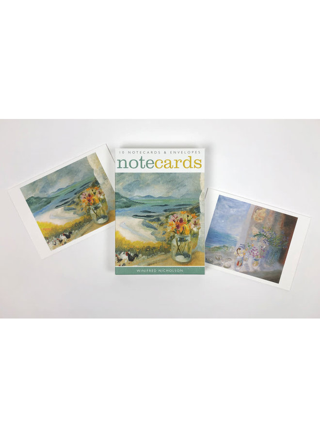 View from Gavin Maxwell's and Cheeky Chicks 10 Notecards by Winifred Nicholson