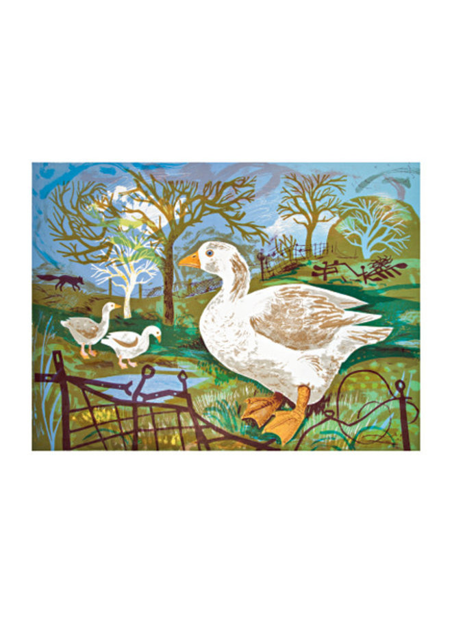 Orchard Geese card by Mark Hearld
