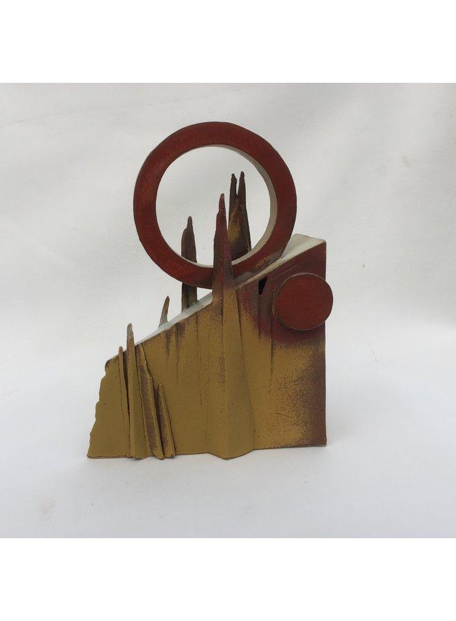Landschaftskeilform mit Ring