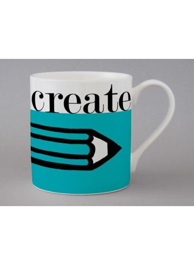 Graphic Creatt Large Blue Mug   159