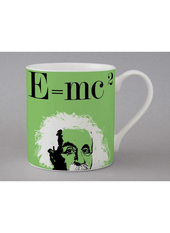 Graphic E=mc  Large Green Mug   161