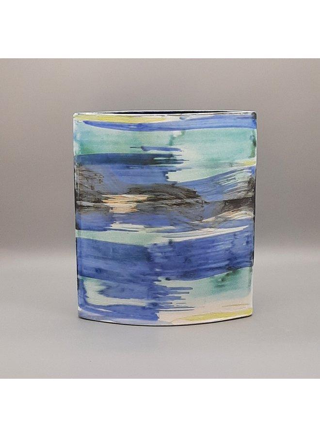 Blue Shoreline große Vase 28