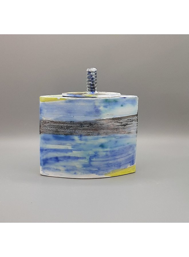 Blue Shoreline Lidded Box 30