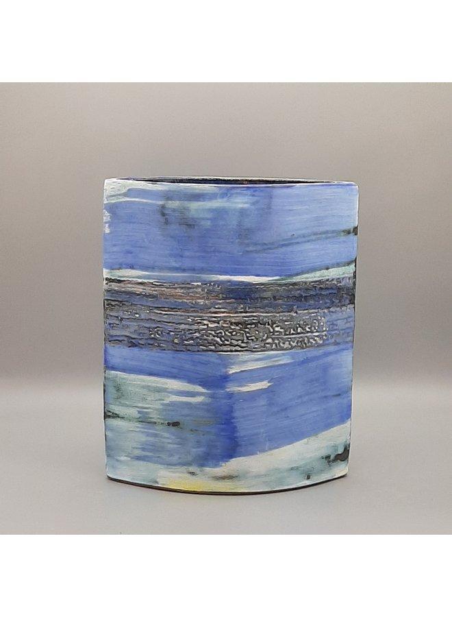 Stormy Blue Shore große Vase 29