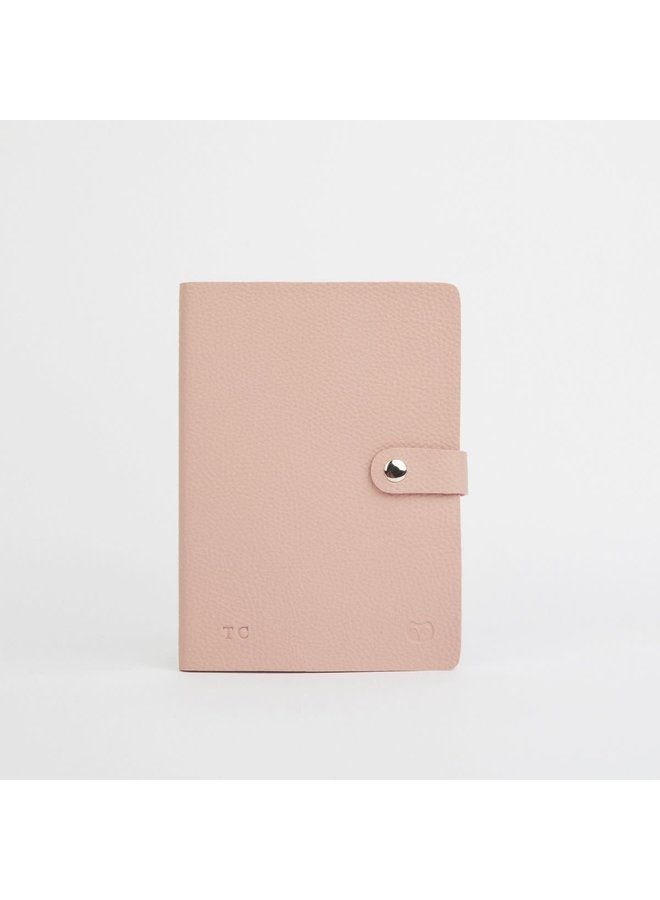 Nicobar Vegan Pink Notebook mit Verschlusspapier 038