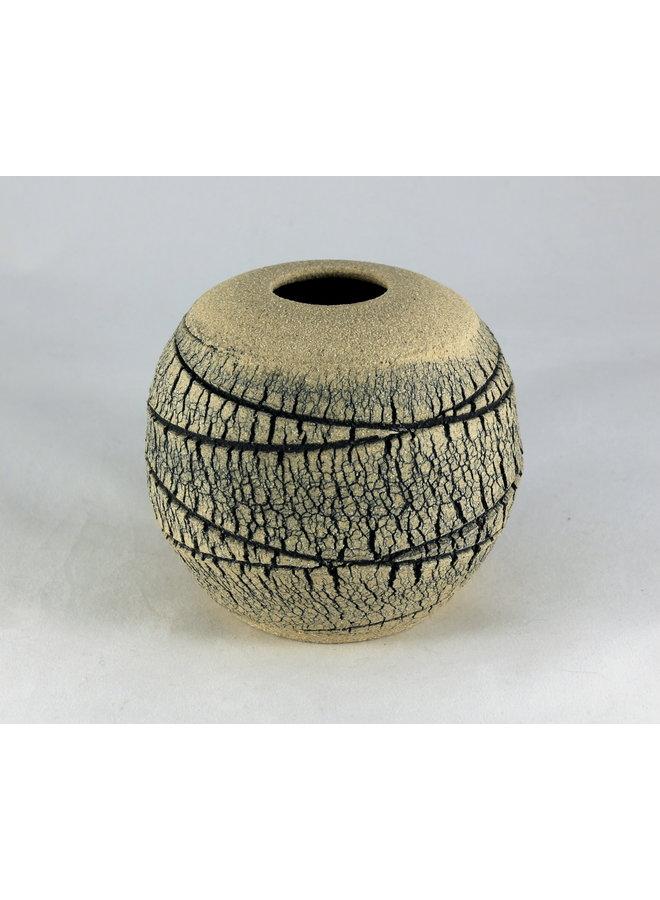 Geäderte Kalksteinkugel 5