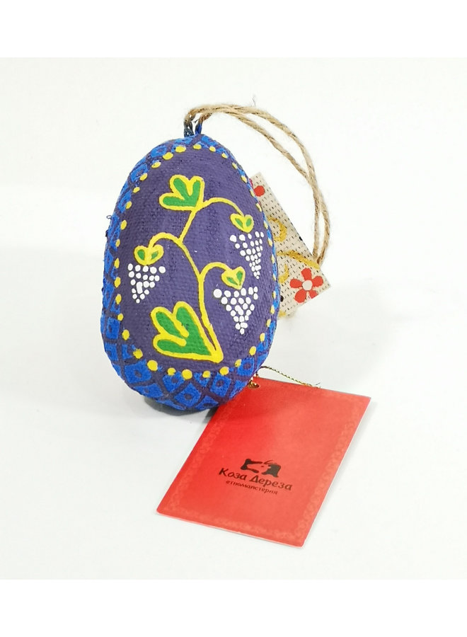 Yellow Easter Egg with Bird  decoration