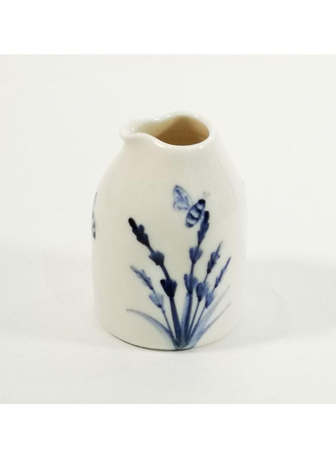 Bienen und Lavendel Porzellan handbemalt Tiny Juglet 117