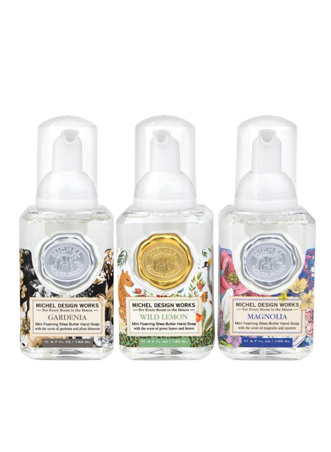 Mini 3 Schaumseifenset Magnolie, Gardenie, Wildzitrone