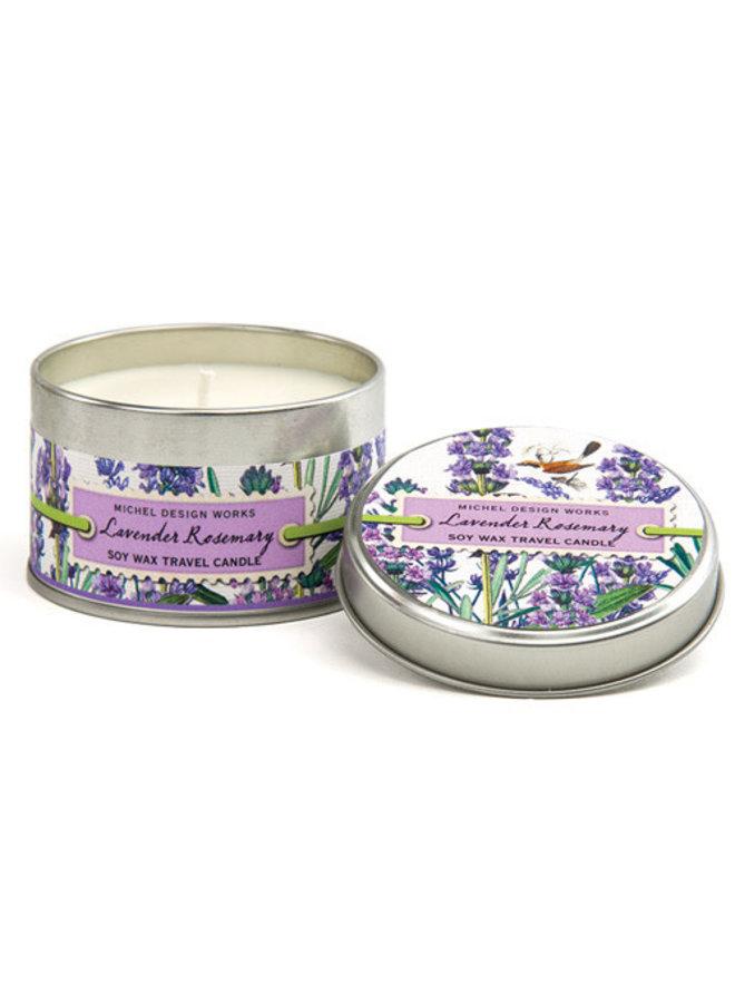 Lavendel & Rosmarin Reisekerze in einer Dose