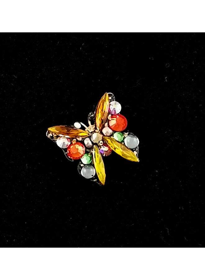 Gelbe kleine Schmetterlingsbrosche 184