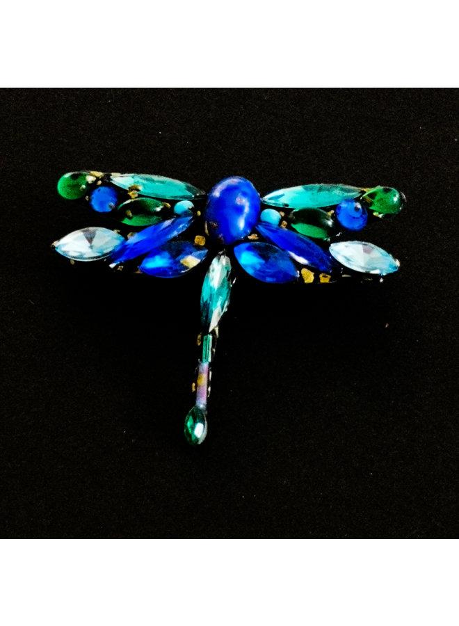 Libelle Blaue Brosche 230