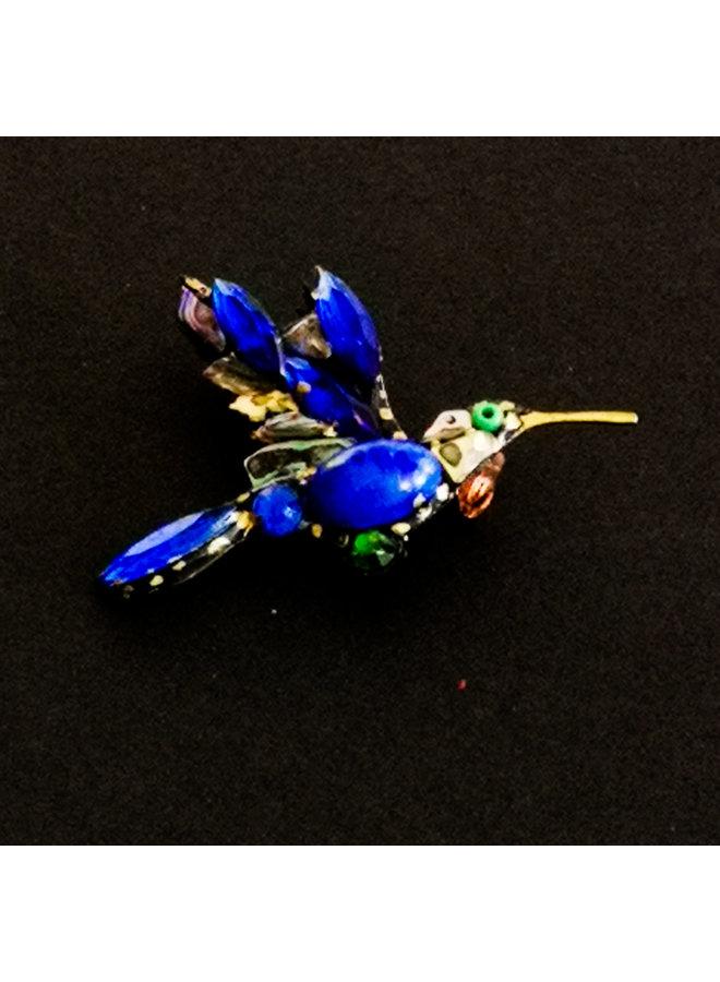 Kolibri blaue Brosche 233