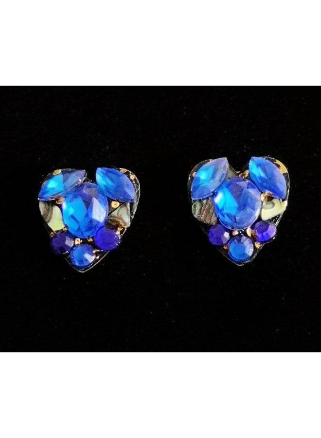 Blaue Herz Ohrstecker 244