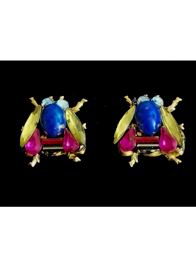 Bees Blue Thorax Ohrstecker 248