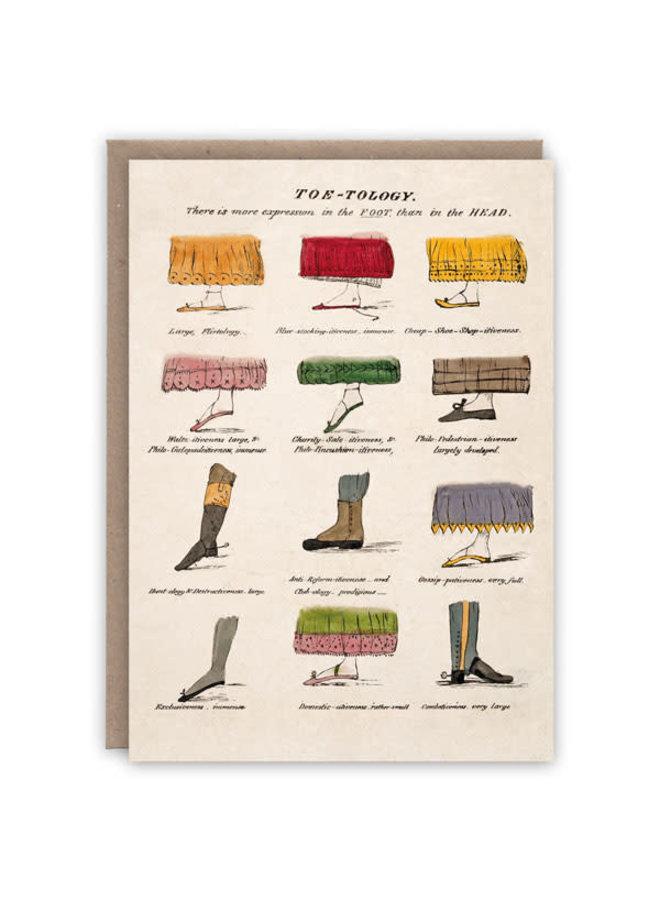 Toe-Tology Pattern Buchkarte