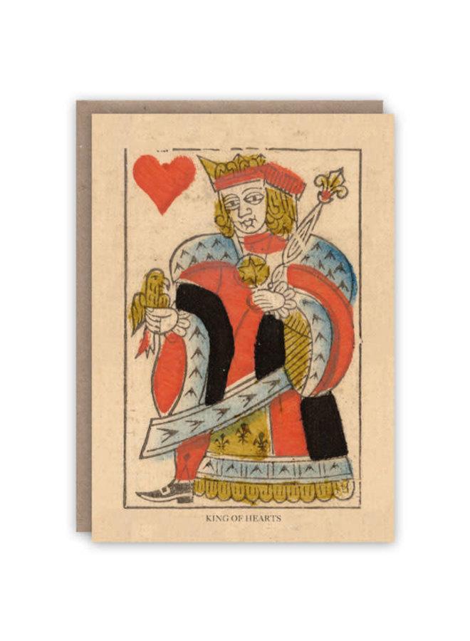 König der Herzen Musterbuchkarte