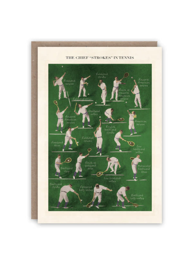 Tennis Musterbuchkarte