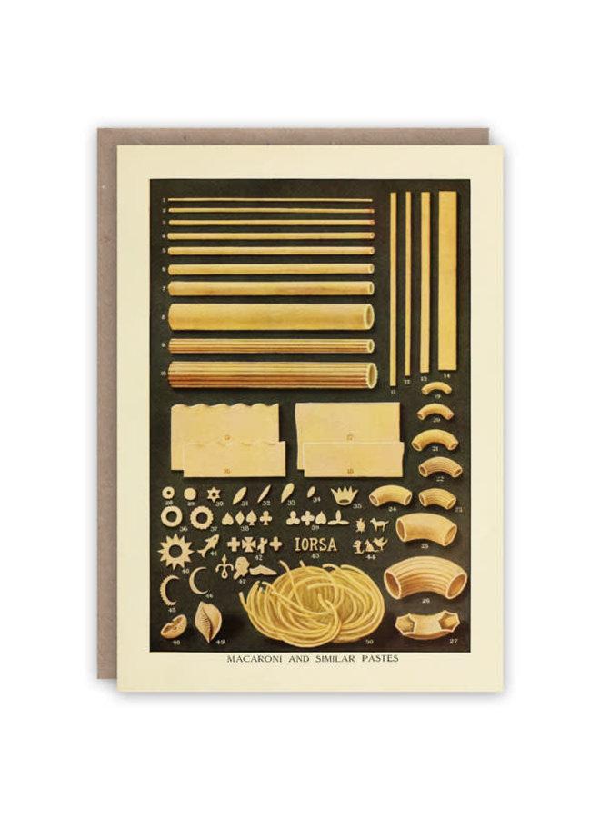 Pasta Pattern Buchkarte