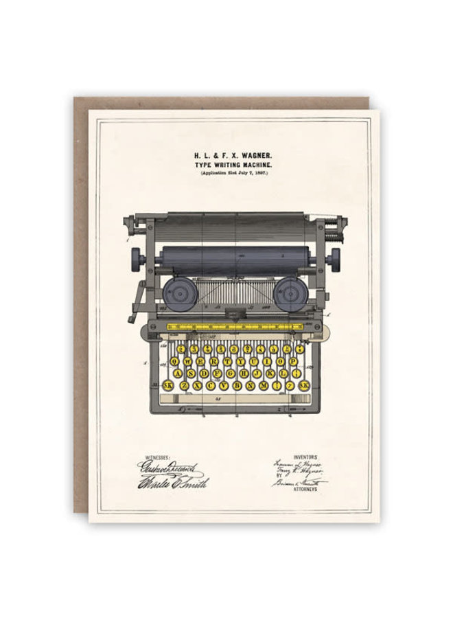 Schreibmaschinenmusterbuchkarte