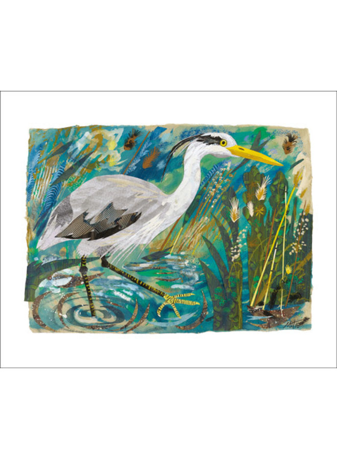 Heron Collage Card by Mark Hearld