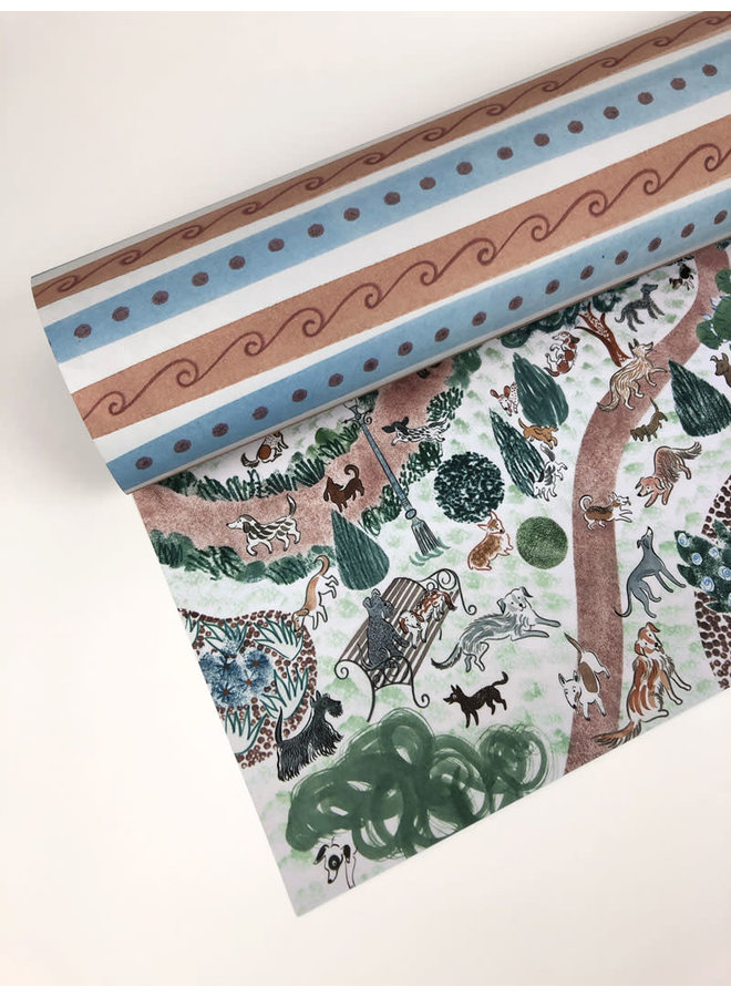 Copy of Hedge Row Gift Wrap by Angie Lewin