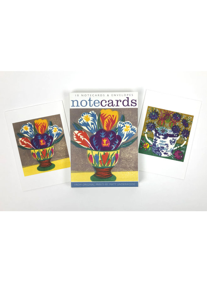 Crocus Egg Cup and Love in a Mist  10 Notecards by Matt Underwood