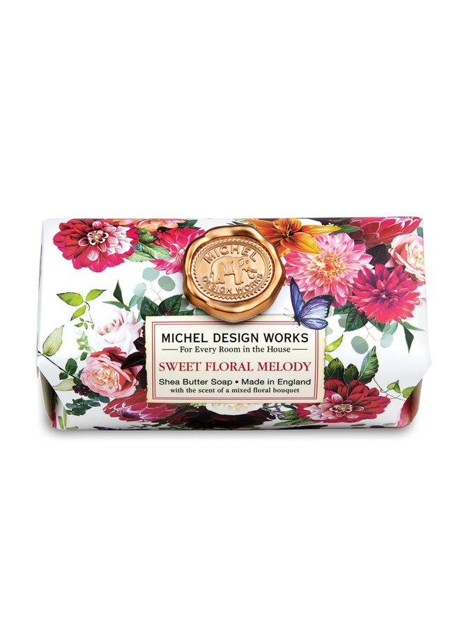 Sweet Floral Melody  Bath Shea  Soap Bar