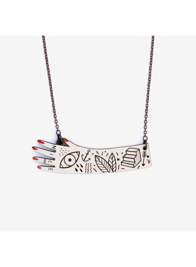 Einhandbemalte Halskette 047