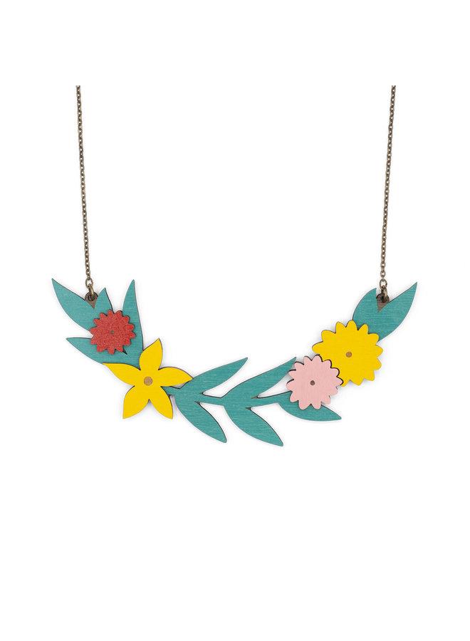 Blühende Girlande Halskette 050