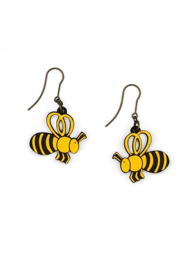 Bienenhakenohrringe 037