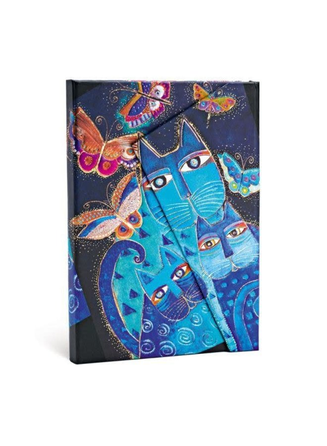 Blue Cats and Butterflies Journal Mid Wrap