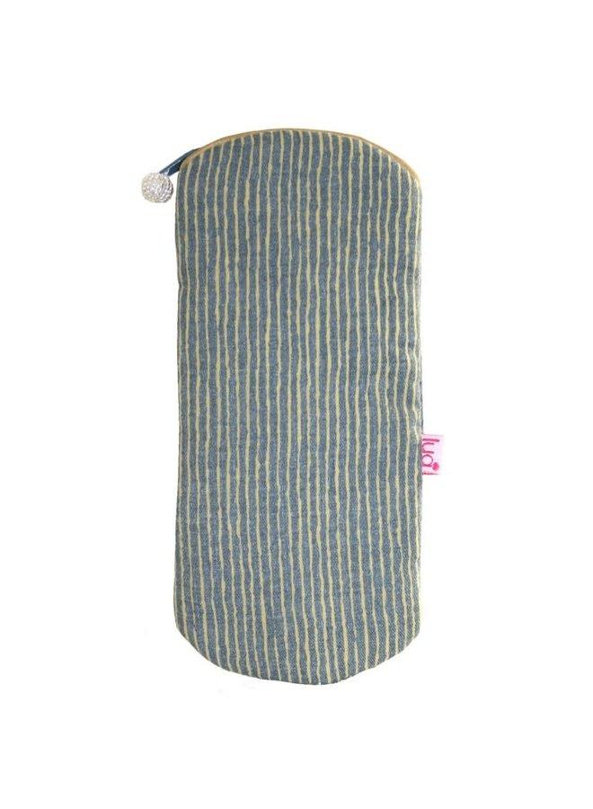 Streifen leichte Brille Geldbörse Senf 304
