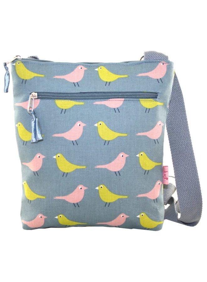 Umhängetasche Birds Blue Grey 451