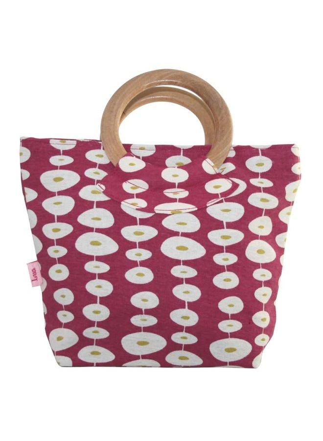 Round Handle Bag Raspberry Oval link 458