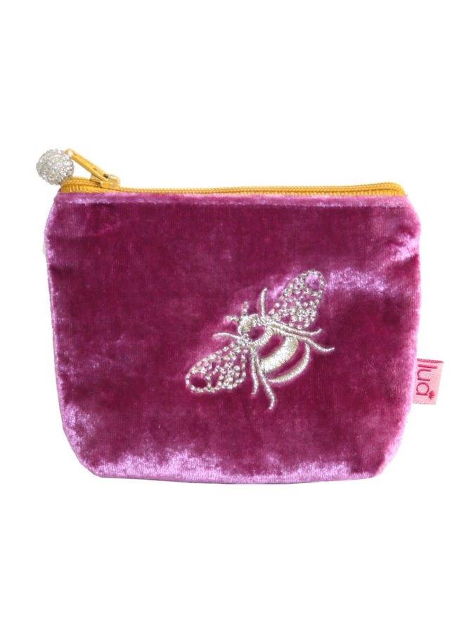 Bee Mini Velvet Geldbörse Pink 502