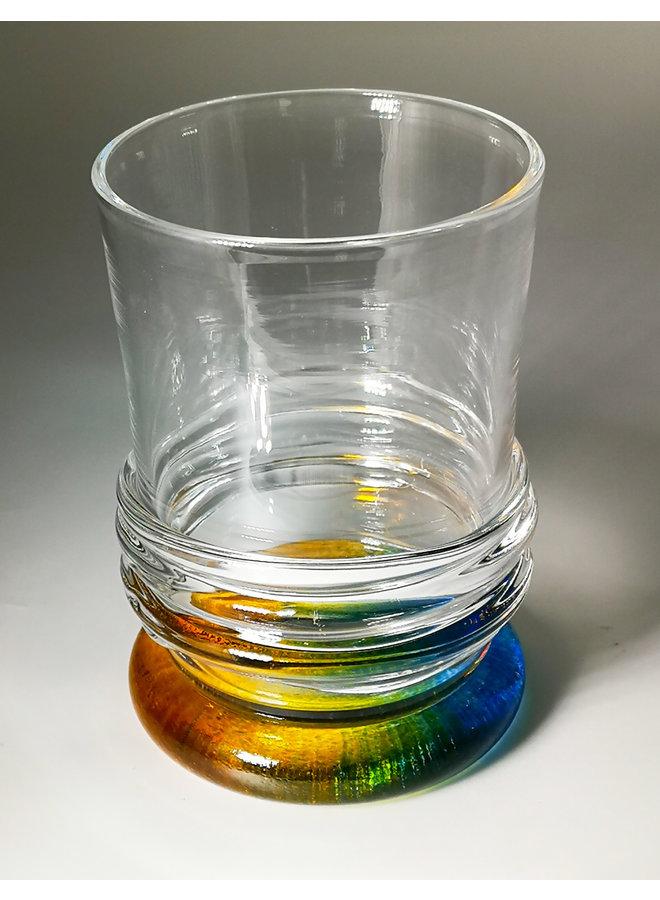 Ripple Rainbow Tumbler Orange & Blau 49