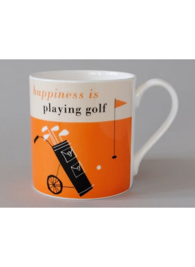 Glück Golf Olive Large Orange Mug 166