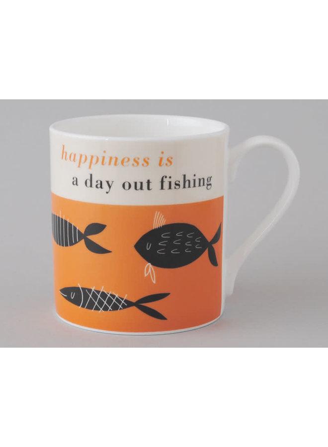 Glücksfischen Großer Orangenbecher 168