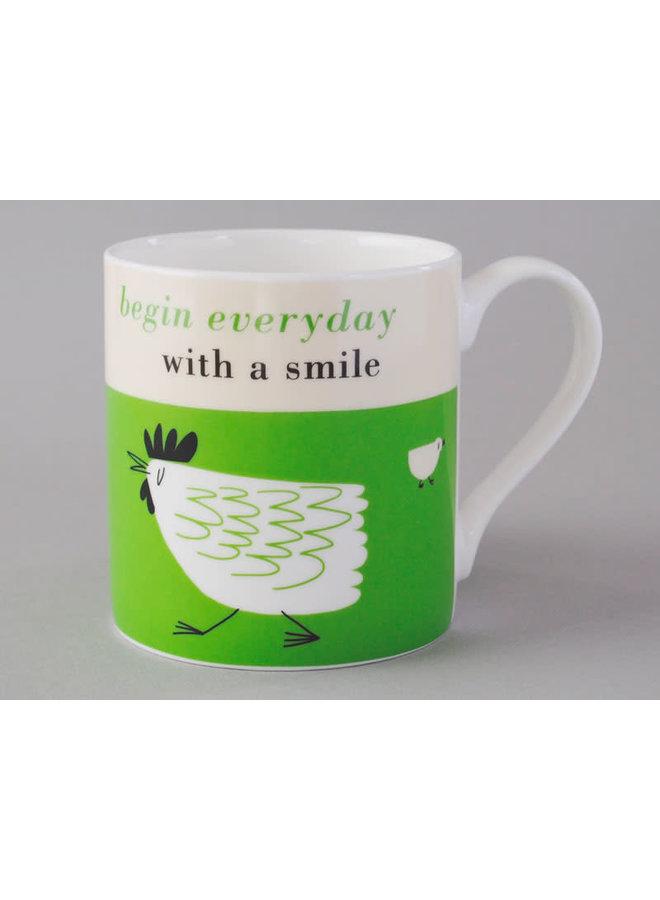 Glück Huhn große grüne Tasse 170