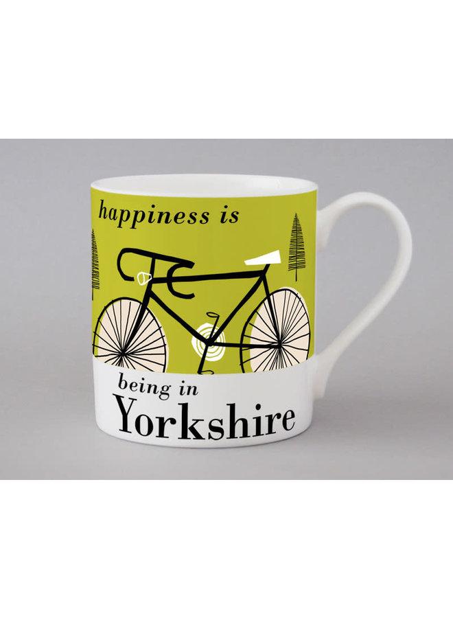Cyclisme Yorkshire Grande tasse olive 175