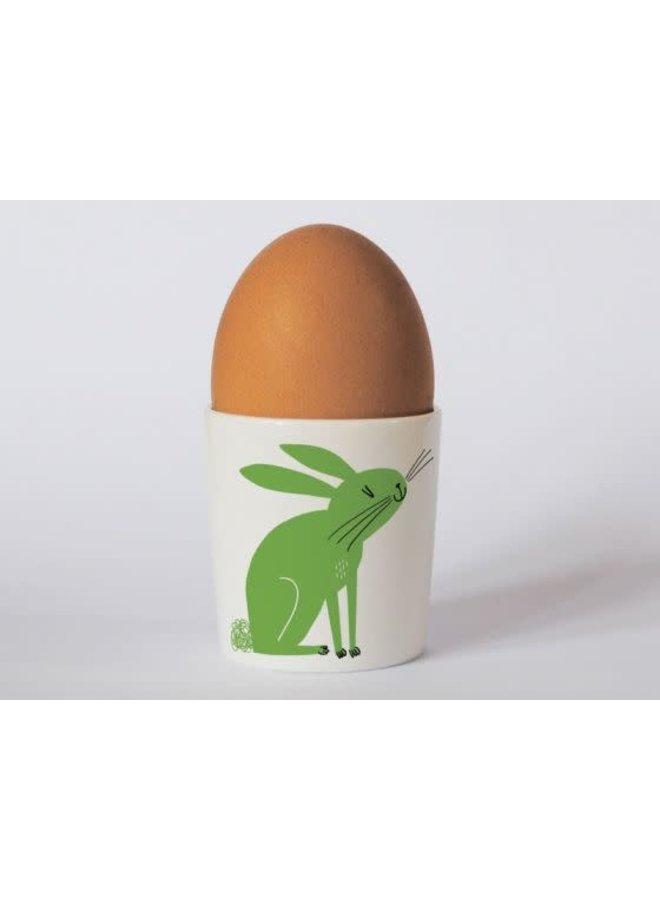 Happiness Rabbit Green  eggcup 180